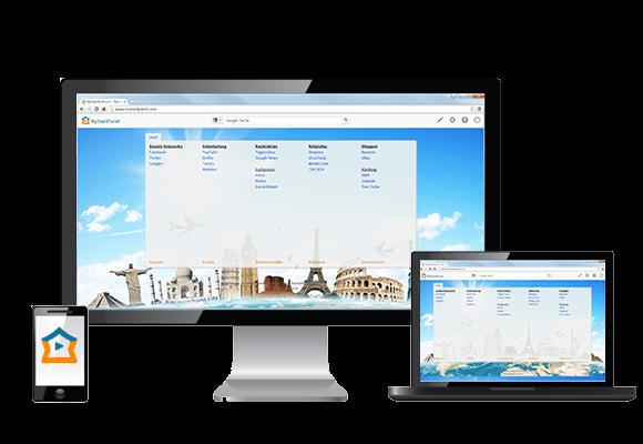 mystartpanel auf dem PC, Laptop, Tablet und Smartphone